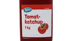 Denne ketchup og Coop Tomat Ketchup må ikke spises. Foto: Coop.dk