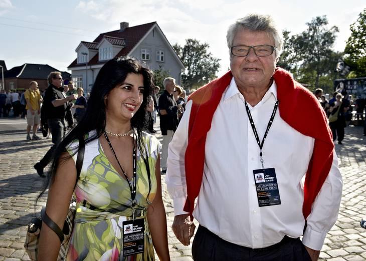 Christian Kjær og Susan Astani på vej til U2-koncert. Foto: Claus Bonnerup