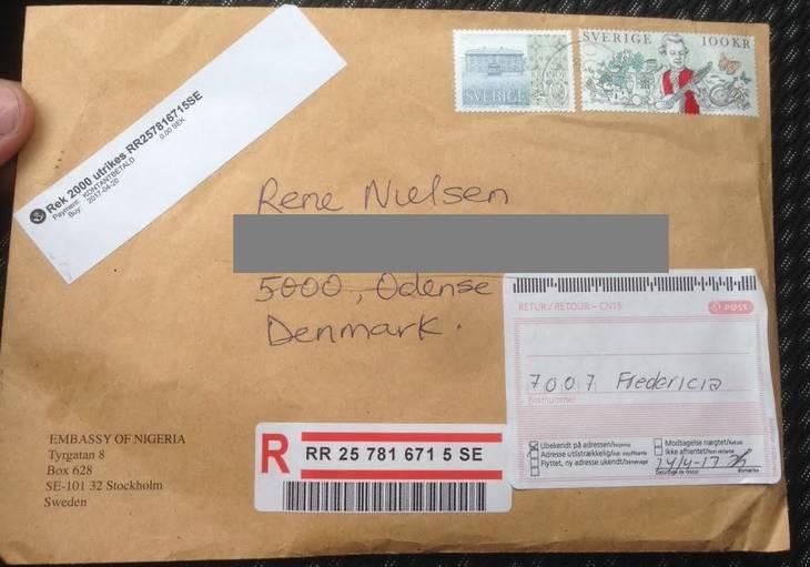 postnord anbefalet brev