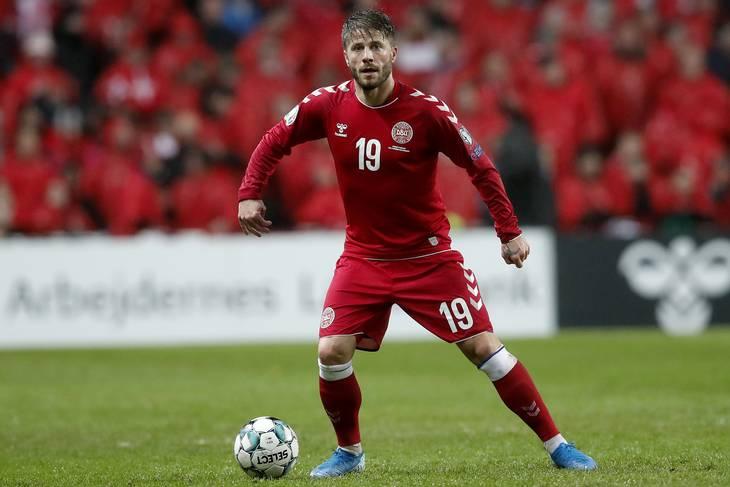 Lasse Schöne i EM-kvalifikationskampen mellem Danmark og Gibraltar. Foto: Jens Dresling