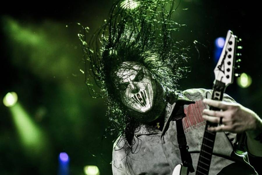 Mick Thomson fra Slipknot, der giver koncert på Blue Water Dokken i Esbjerg torsdag 21. januar. (Foto: Anthon Unger)