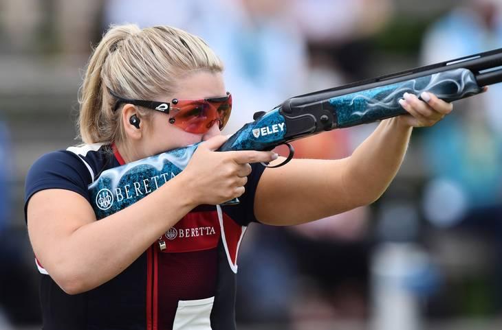 23-årige Amber Hill i aktion få måneder før OL. Foto: Massimo Pinca/Ritzau Scanpix