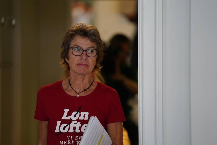 Formand i  Dansk Sygeplejeråd, Grete Christensen, varslet yderligere strejke. Foto: Emil Helms / Ritzau Scanpix