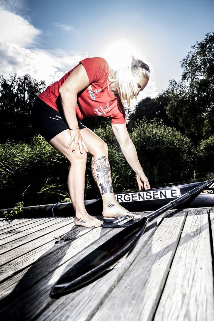 Emma Aastrand Jørgensen skal både konkurere i 200 og 500 meter løb, desuden sidder hun også i K4'eren sammen med de andre danske kvinder. Foto: Anthon Unger