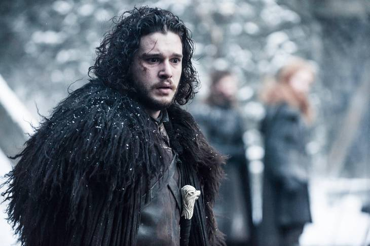 Her ses Kit Harrington i sin berømte rolle som Jon Snow i Game of Thrones. (Foto: AP)