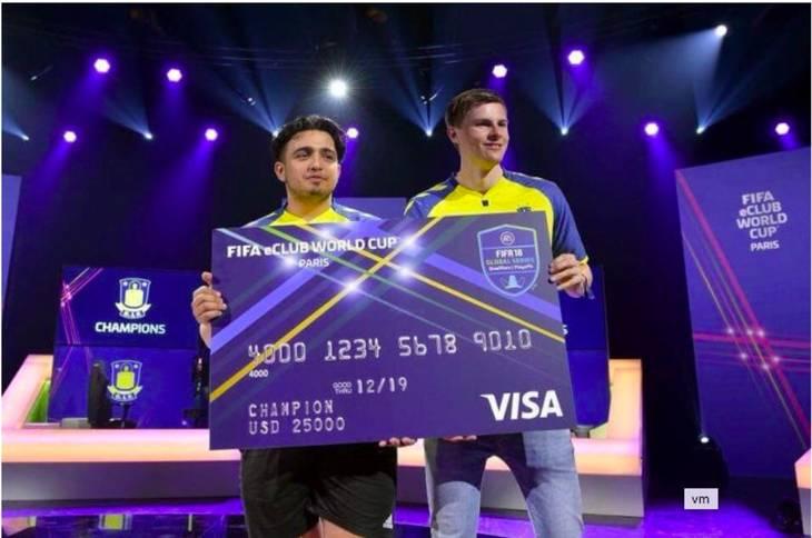 Fatih Üstun vandt VM for klubhold med Brøndby eSport. Skærmbillede.