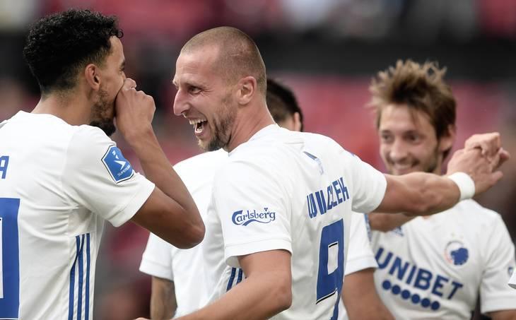 FCK scorede tre hurtige mål i anden halvlegs begyndelse. Foto: Lars Poulsen