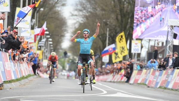 Michael Valgren triumferede i Amstel Gold Race. Foto: All Over Press/Imago Sport