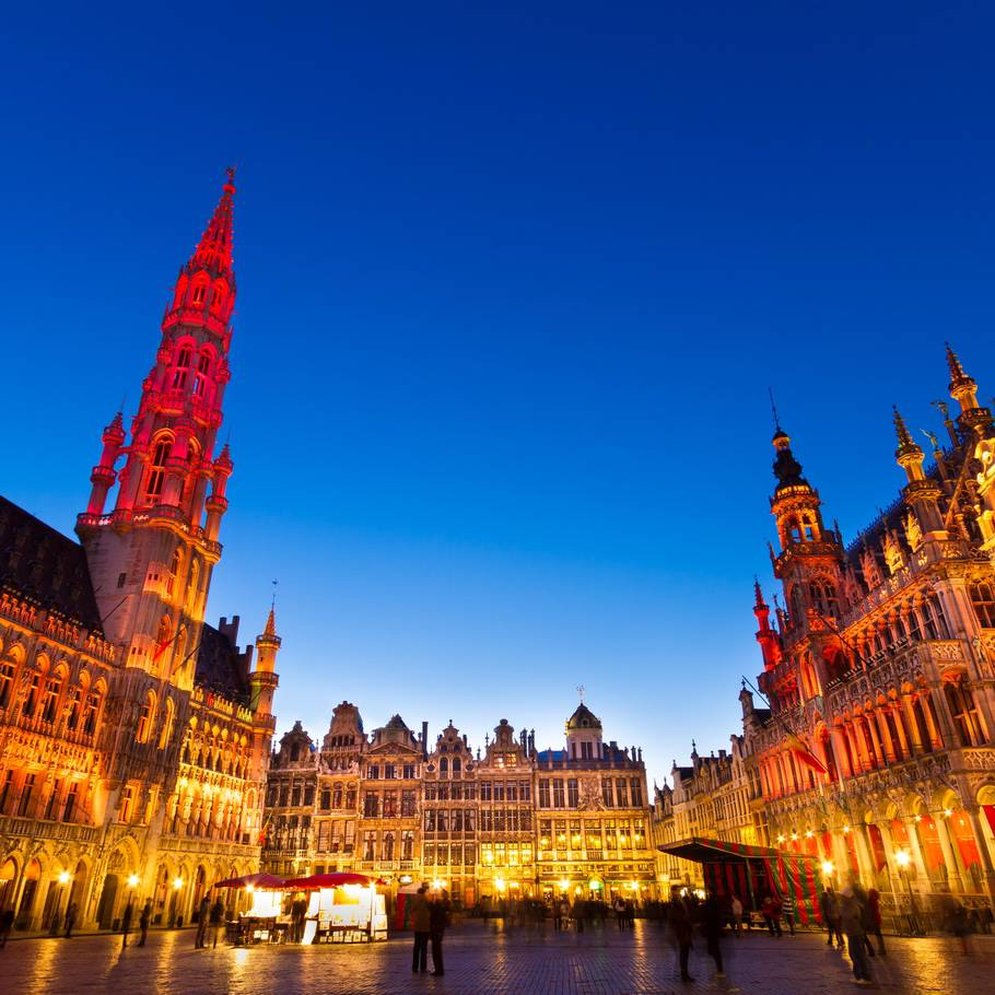 Bruxelles at night. (Foto: Colourbox)