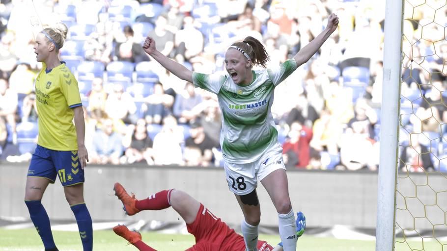 8069adefde4 Heller ikke Brøndbys fodboldkvinder formåede at vinde deres finale. Foto:  Claus Bech/Ritzau