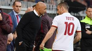 Luciano Spalletti og Roma havde i løbet af sæsonen flere uoverensstemmelser - blandt andet om Francesco Tottis spilletid. Foto: All Over Press