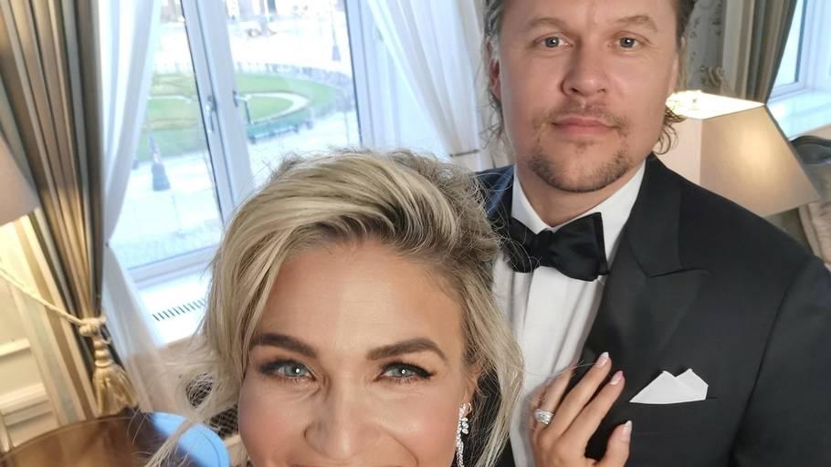 Christiane Schaumburg-Müller og Daniel Åxman stod offentligt frem som par i begyndelsen af 2020. Foto: Privat/ChriChri