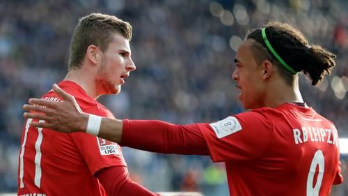 Timo Werner bliver udsat for en massiv kritik fra de tyske fodboldfans Foto: Michael Sohn/AP