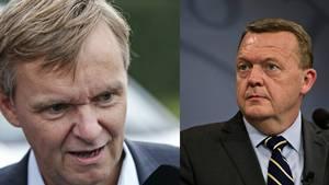 Poul Madsen og Lars Løkke har været i infight på Twitter. Foto: Jens Dresling/Tobias Nicolai, Polfoto