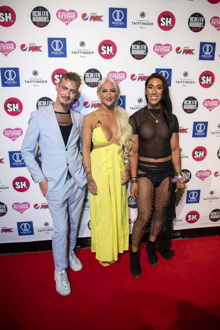 Trine deltog i Reality Awards sammen med Sigmund og Sy Lee. Foto: Anthon Unger