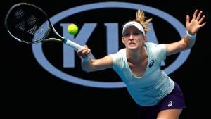 Ligesom ved Wimbledon fik Julia Boserup et fint udbytte med fra årets første grand slam. Foto: AP