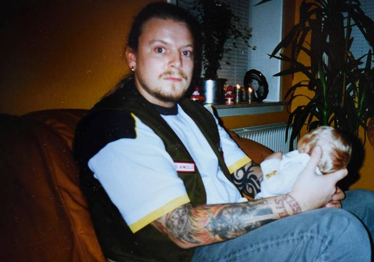 Livet som rocker var ikke foreneligt med at være en ordentlig far for Rolf Hermansen. Privatfoto