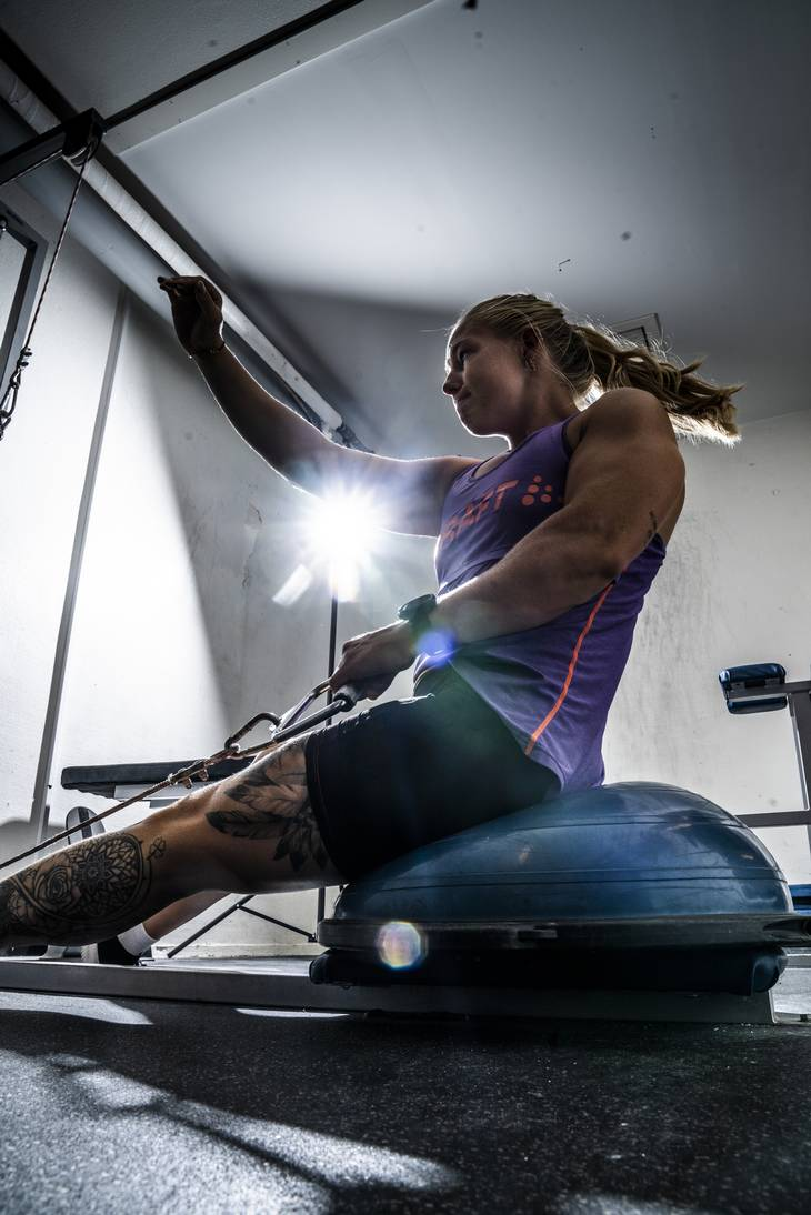 Emma Aastrand Jørgensen styrke træner tre gange om ugen. Foto: Anthon Unger