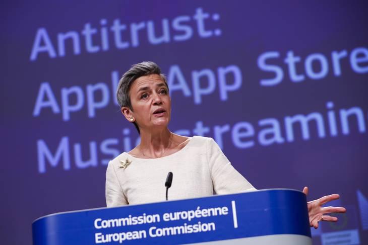 Margrethe Vestager står i spidsen for den europæiske kamp mod Apples dominans, som EU i dag betragter som et monopol. Foto: Francisco Seco/Ritzau Scanpix