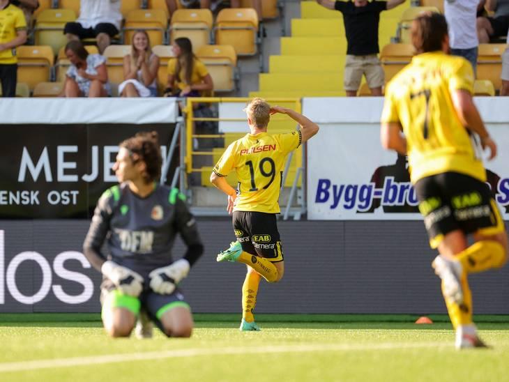 Jeppe Okkels kunne juble, da han scorede til 2-0 i Europa Conference League. Foto: Adam Ihse/Ritzau Scanpix.