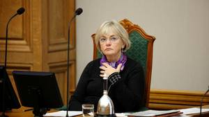 Den store lukkethed omkring Folketingets økonomi er fortsat ufortrødent under Pia Kjærsgaard som  formand Foto: POLFOTO