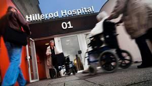 Karen Thisted var forbi Hillerød Hospital i påsken. Det var en blandet fornøjelse. Foto: Torben Åndahl/polfoto