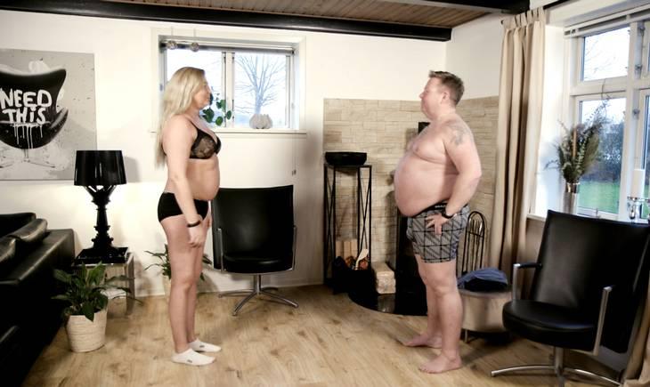 Ved programmets start vejer Eilif 130 kilo. Foto: DR/Morten Sønniksen