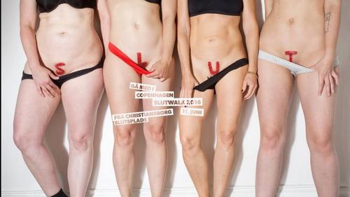 Danske kvinder demonstrerer for retten til at være en tøjte
