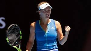 Caroline Wozniacki er fuld af selvtillid før lørdagens kamp på en bane, hvor hun har vundet fire ud af fem kampe. Foto: AP