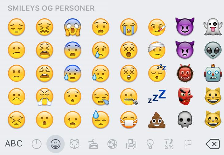hvad betyder emoji symbolerne sxe piger