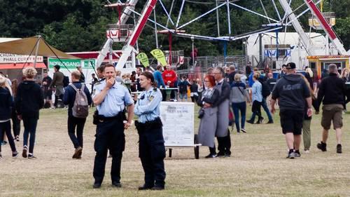 Politiet har ikke travlt på Tinderbox. Foto: Per Lange