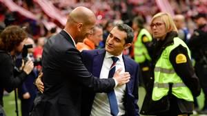 Ernesto Valverde har læssevis af erfaringer som toptræner fra ophold i blandt andet Valencia, Olympiakos, Athletic Club, Espanyol og Villarreal. (Foto: AP)
