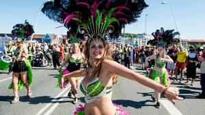 Karnevallet startede klokken 10 lørdag formiddag og sluttede ved midnat i Kildeparken. Foto: René Schütze