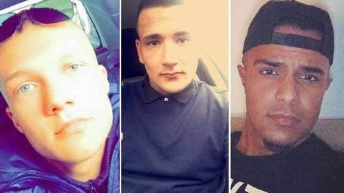 Phillip Rasmussen, Mike Vinther og Suhaib Jaffar blev dræbt natten til 11. november sidste år. Derefter anskaffede en stor gruppe af deres venner sig fire skydevåben. Nu er 11 af vennerne tilsammen idømt 23 år og otte måneders fængsel. Privatfoto.