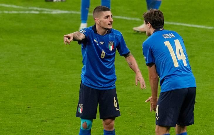 Italien havde svært ved at få det til at køre mod Spanien. Foto: Matt Dunham/Ritzau Scanpix