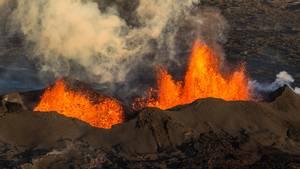 Sådan så det ud, da Bárðarbunga gik i udbrud for knap tre år siden (Foto: All Over)