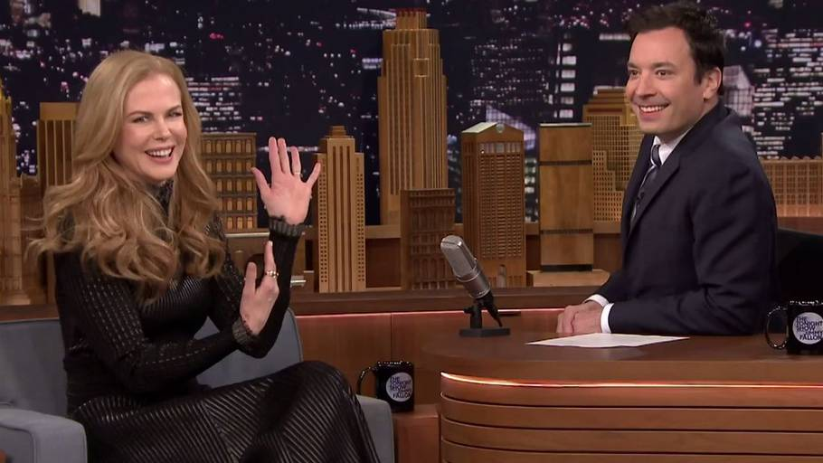 Jimmy Fallon kan ikke rigtigt komme sig over, at han forpassede en chance for at date Nicole Kidman. (Foto: Youtube)