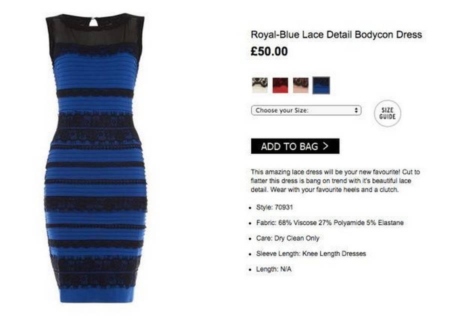 kjolen er blå og sort