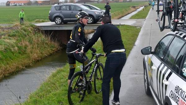 Edvald Boasson Hagen styrtede under Gent-Wevelgem. (Foto: ALL OVER)