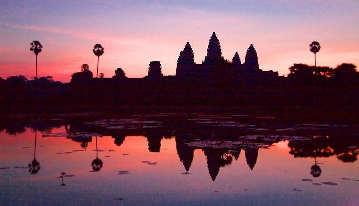 Solnedgang over Angkor Wat. (Foto: Flickr/Chi King)
