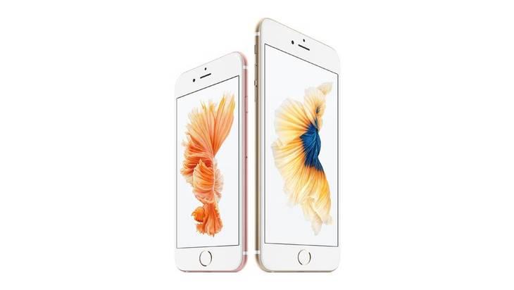 787ea39acc8 Den nye iPhone findes i to størrelser: 6S til venstre har en skærm på 4