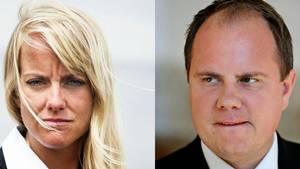 Pernille Vermund og Martin Henriksen. Foto: /ritzau/Mathias Svold/Jens Dresling
