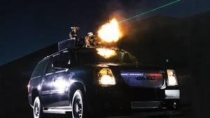 Køretøjet skal beskytte præsidenten og hans kortege med massiv maskingeværild. PR-foto: Dillon.
