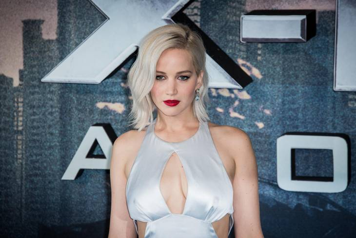 Jennifer Lawrence til premiere på 'X-Men Apocalypse' i London. Foto: AP
