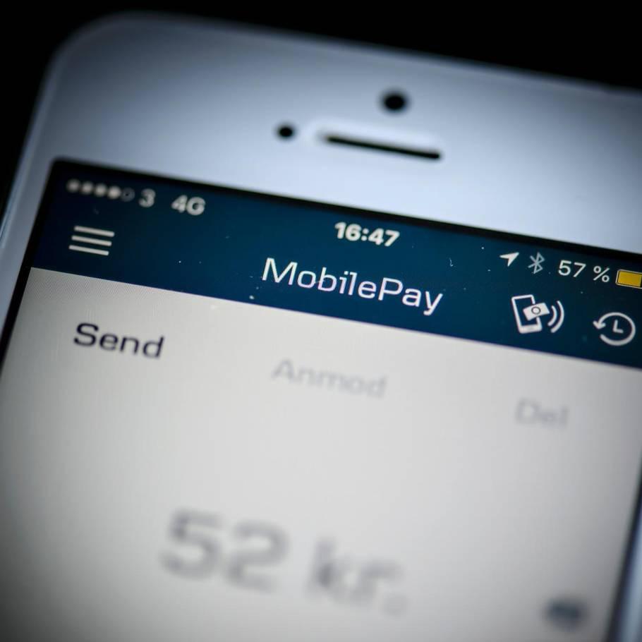 hæve kontanter med mobilepay