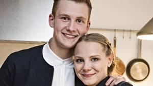 Lise og Michael Vandborgs nyfødte dreng blev indlagt med RS virus. Foto: Henrik Ohsten/TV2.