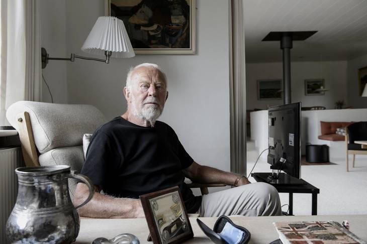 Kjeld Thorst, der her er fotograferet i sit hjem for et par år siden, fik ikke så meget som en pesetas for sin tørn som innerwing. Foto: René Schütze