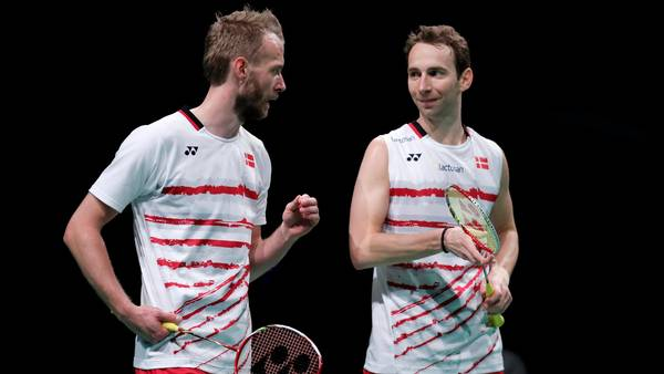 De danske veteraner Mathias Boe og Carsten Mogensen reddede Danmark ved Sudirman Cup. Foto: Jens Dresling.