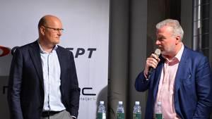 Bjarne Riis og Lars Seier Christensen står fortsat i spidsen for Team Veloconcept. Foto: Ernst van Norde