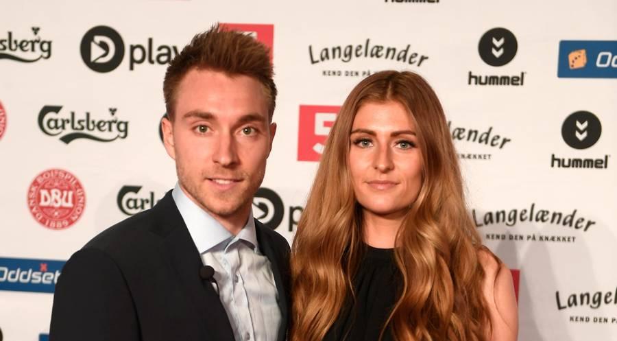 Christian Eriksen viste første gang sin kæreste, Sabrine Kvist Jensen, frem ved Dansk Fodbold Award i 2012. Efter hun havde gjort sin frisøruddannelse færdig, flyttede hun til London for et par år siden. Foto: Lars Poulsen